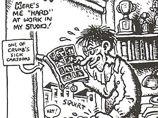 Detail (and this was a *bitch* to crop, believe me) from 'The Many Faces Of R Crumb', 1972
