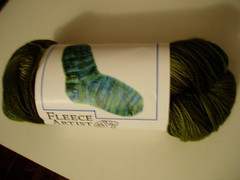 Fleece Artist Merino Sock Yarn in Moss