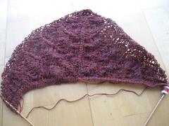 Alpaca mistery shawl 2