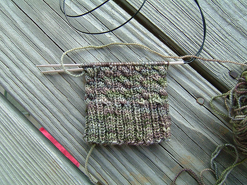 Front of Cabled Sock