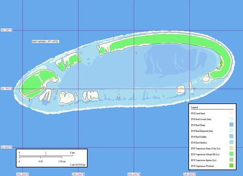 Atoll Vahitahi - Map