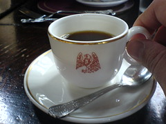 Very small cups of coffee