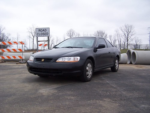 1999 Honda Accord Ex Coupe Black With Gold Emblems Leather Seats (off  Grey), Cd Player (doesnu0027t Work), Wood Grain Accents. Sunroof.