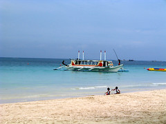 Trigger boat at Station 1, Boracay