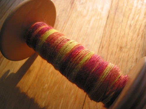 dyed Tussah silk singles, sunfires