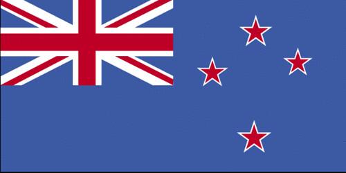 La bandera de Nueva Zelandia