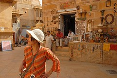 Linda in Jaisalmer Fort, Jaisalmer, Rajasthan, India Captured April 14, 2006.