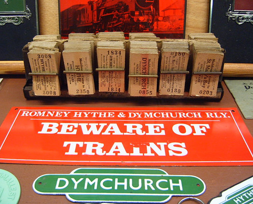 Beware of Trains Sign - Romney, Hythe & Dymchurch Railway