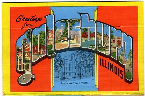 Postcard: Galesburg, IL, circa  late-1930s