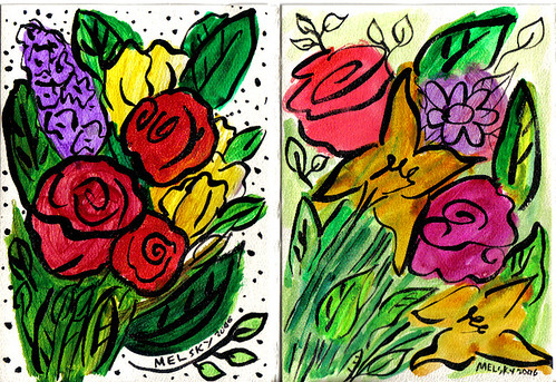 Absract Floral Greeting Cards