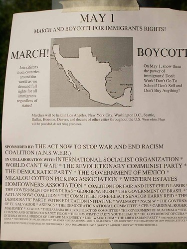 immigration march may 1 flyer