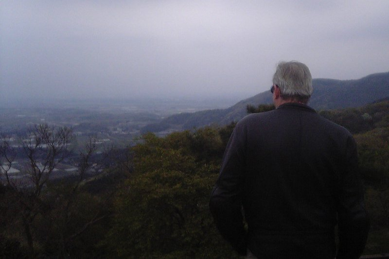 Martin looking out from Mt. Tsukuba