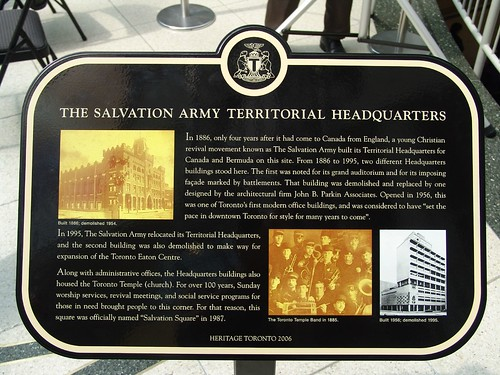 Salvation Army Plaque