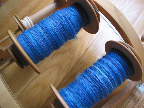 Spun stripey superwash
