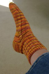 First Project Spectrum sock done