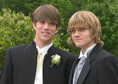 two brothers in tuxes