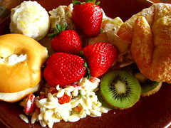 Sunday Brunch with Fruit and Breads!