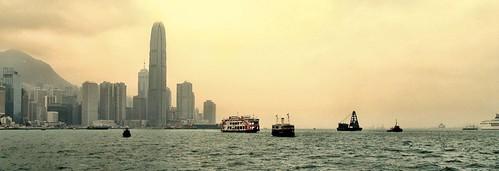 Hong Kong skyline looking west