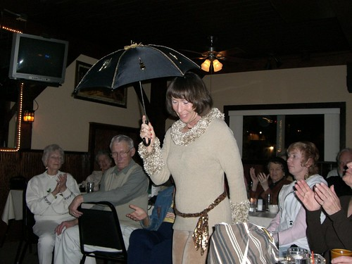 Mimi doing her umbrella dance