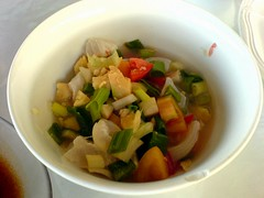 Kinilaw or raw fish salad.