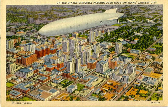 houston dirigible postcard