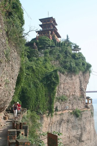 temple on cliff