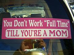 full time mom sticker