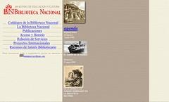 Web de la Biblioteca Nacional en 1998