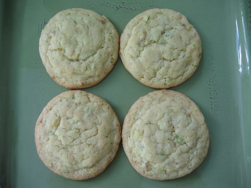 lime ginger cookies plate