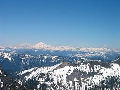 Glacier Peak And Tenpeak Ridge From Baring Mtn
