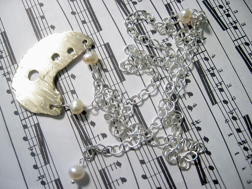 Pearl Cymbal Necklace