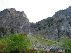 Looking Up The Gully From The Basin