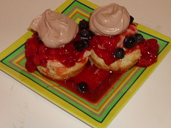 Macerated Berries with Mascarpone in Puff Pastry