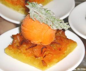 Tatin de carottes et fenouil et zestes d'oranges