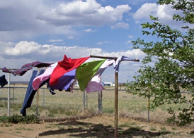 Laundry blowing in the wind 5/21/06