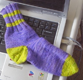 purple yellow sock one