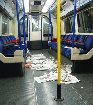 Piccadilly Line Litter