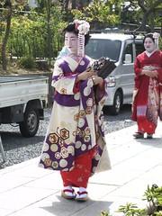 Una Maiko en el Parque Maruyama