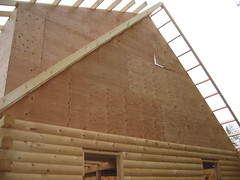 Gable sheathing.