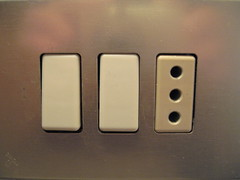 Hotel electrical outlet and light switches