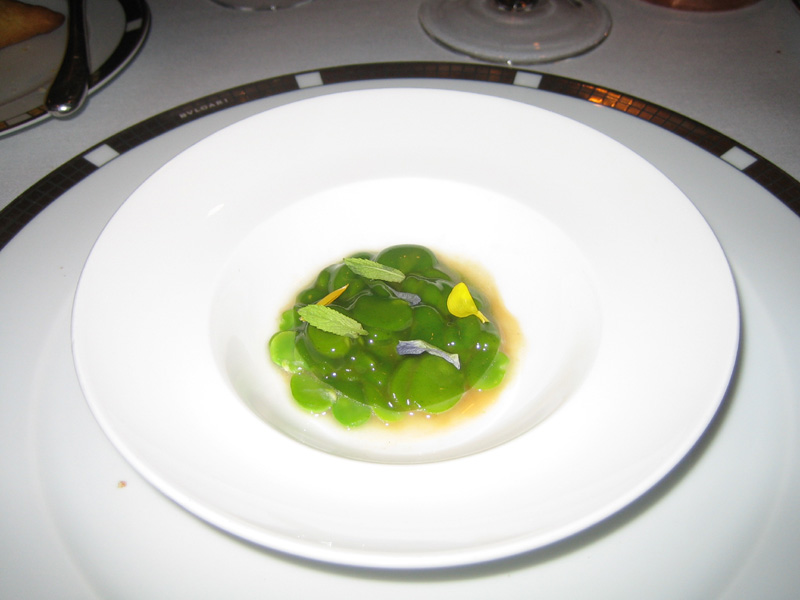 Can Roca - Fava Beans w/ Mint Gelee & Chicken Broth