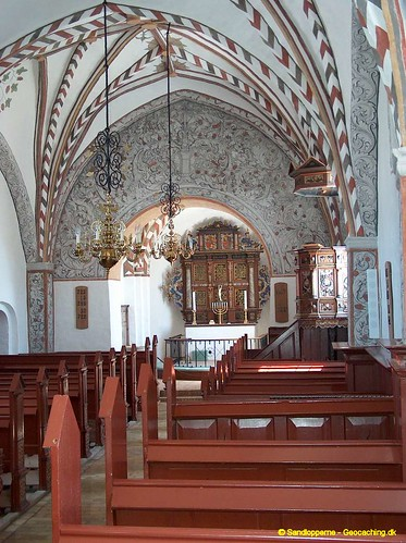 Udby Kirke - skibet. [The interior of Udby Church]