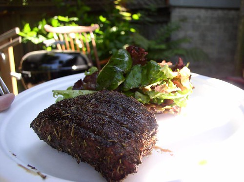 A nicely crusted Herb de Provence steak