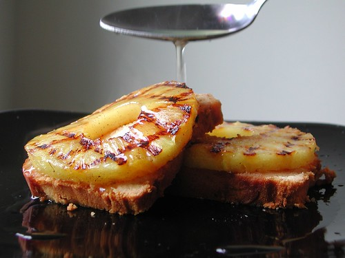 Poundcake with Grilled Pineapple
