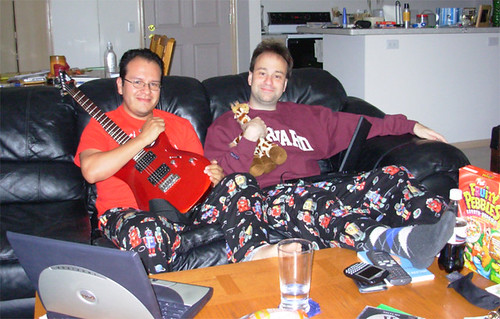 sal and my matching pajamas