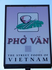 the Pho Van sign...
