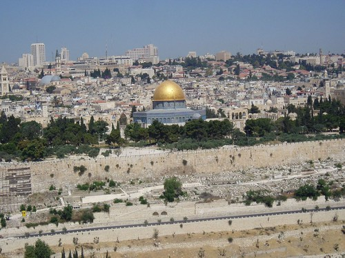 Jerusalem Old city from the Mount of Olives