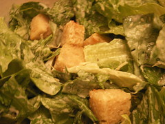 homemade Caesar's salad