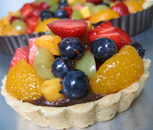 fruit tart nutella pastry cream