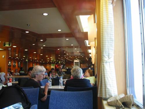 Inside ferry to Naxos